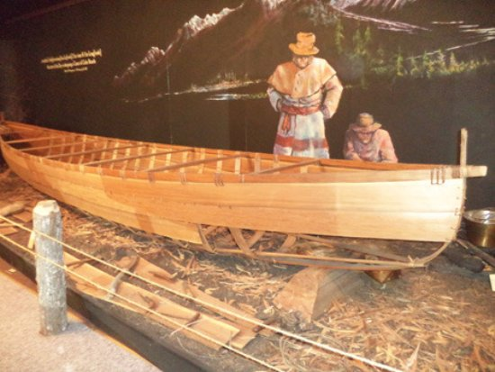 Sandpoint, ID: Indian canoe on display