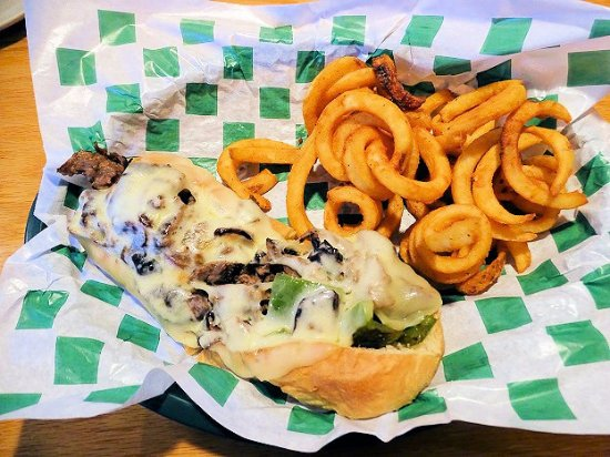 Beef 'O' Brady's: great philly cheese steak and fries