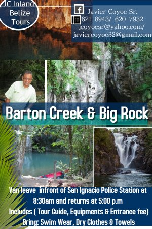 Barton Creek Cave cultural remains have been found on ledges inside with evidence of Maya activi