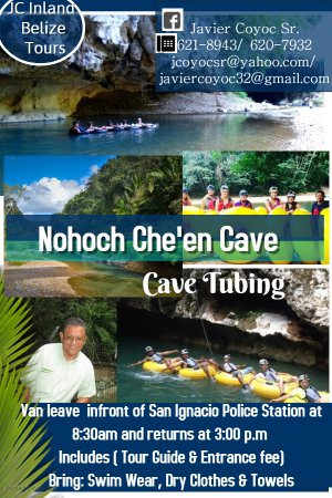 Cave Tubing at Nohoch Che'en Cave - architecture modifications, and cave art can still be viewed