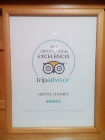 Hotel Douro: Obrigado ao TripAdvisor e clientes que nos deram este premio.