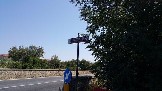 Tomba Bretia Cariati: l'accesso dalla strada principale