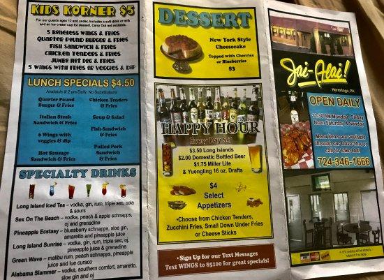 Hermitage, بنسيلفانيا: menu