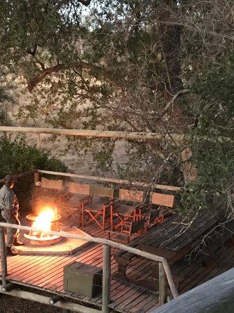 Rhino Walking Safaris at Plains Camp: Sleepout campfire/braai.