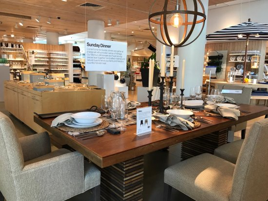 Santana Row Crate Barrel Dining Room Decor