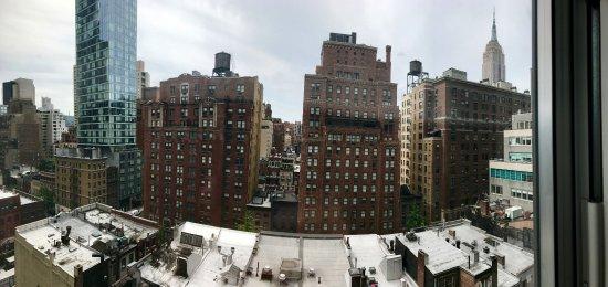 View from the desk. (High floor 1-bedroom suite)
