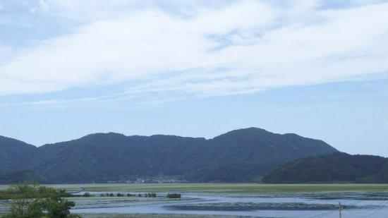 Fukui Prefecture, Japón: 高速道路のパーキングからの遠景1