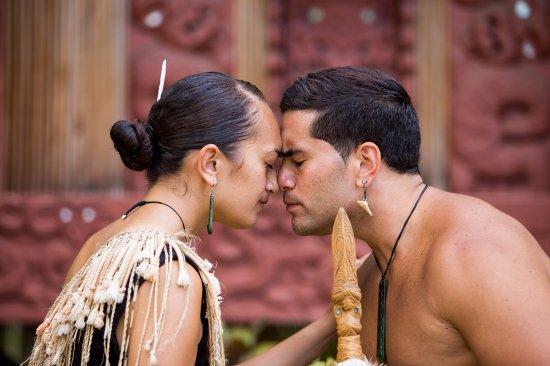Traditional hongi greeting in the maorio village at the polynesian traditional hongi greeting in the maorio village at the polynesian cultural center m4hsunfo