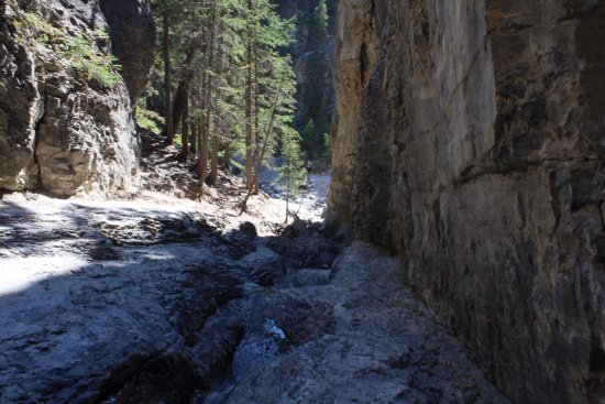 Grotto Canyon. View from the waterfall.