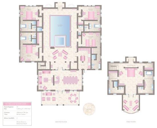 Sandy Lane Hotel: Floorplans The Villa