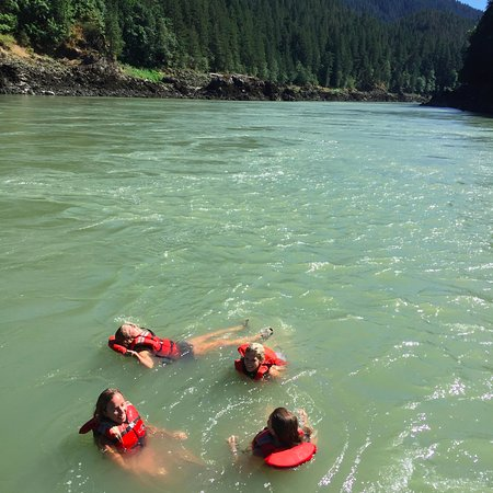 Yale, Canada: About mid-way into the trip - Swimming in the Fraser!!
