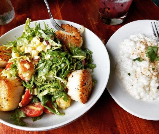 Rumba : scallop & papaya salad and coconut risotto