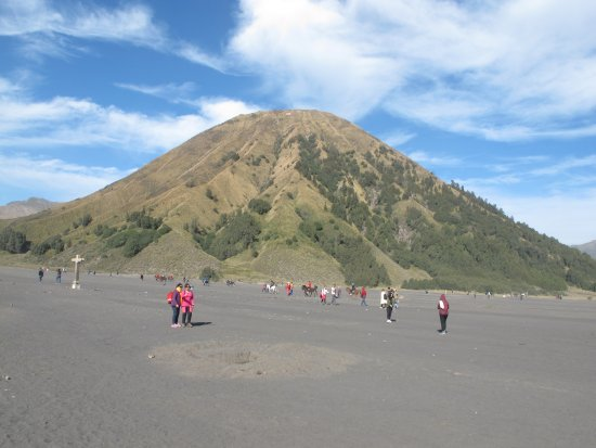 Mount Bromo: Mount Batok in caldera plain of volcanic sands