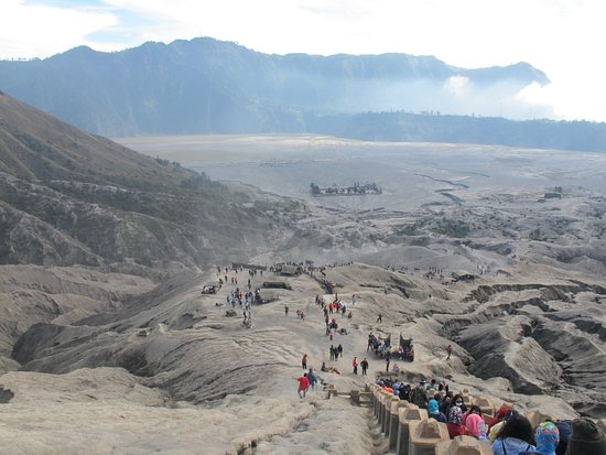 Mount Bromo: Looking down from the crater