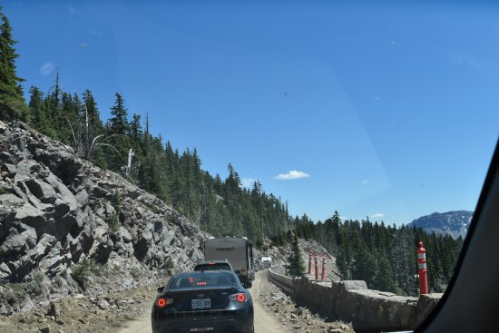 Rim Drive: Road works being done. Down to one lane at times.