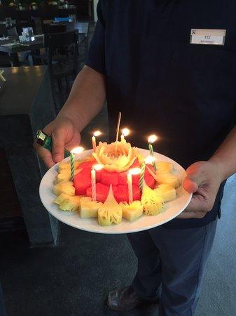 Terrific Surprise Happy Birthday Fruit Cake Picture Of The Grand Southsea Personalised Birthday Cards Veneteletsinfo