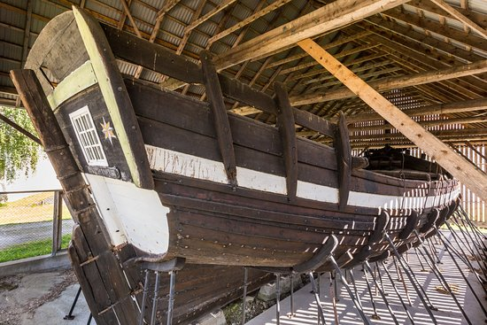 Sandane, Norge: The Holvik jekt is the only preserved ship of its kind left in the world.