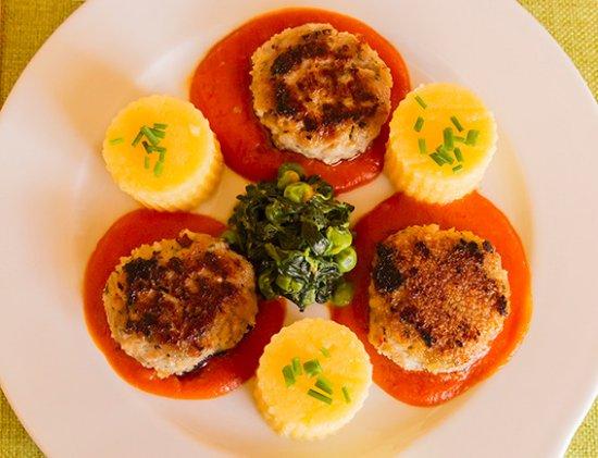 Кот-д'Ор, Франция: Fricadelles de veau panées tendrement rôties... Miam...