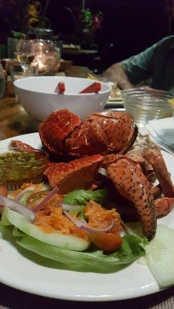 Lope Lope Lodge: Delicious fresh mud crab