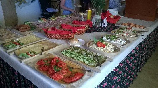 Gliczarow Gorny, Polen: śniadanie