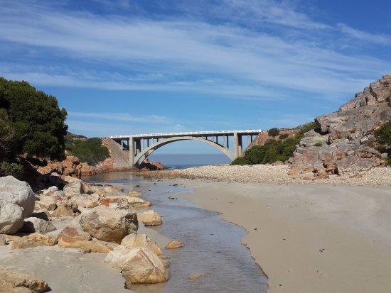 Gordon's Bay, Sør-Afrika: bridge at start of hike