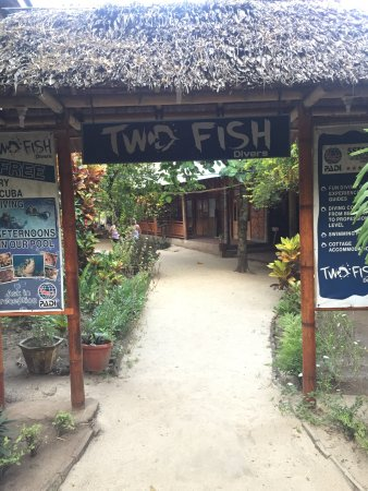 Two Fish Divers Bunaken: Entrée coté route