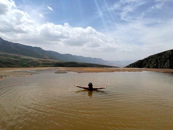 Mazandaran Province, İran: We swam in the sulfur lake