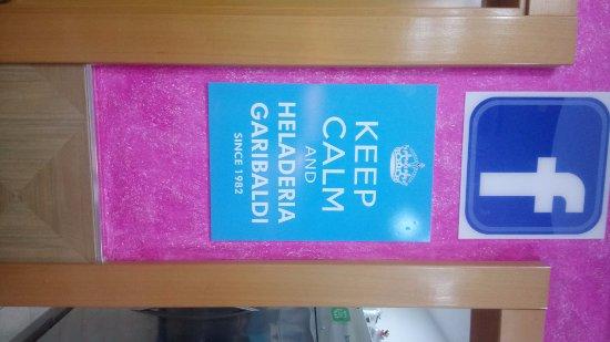 Heladeria Garibaldi: Poster dentro de la heladería