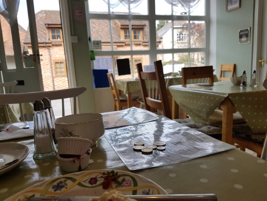 Selborne, UK : View from inside the tea room