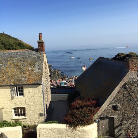 View from the Cadgwith Cove Inn on Regatta Day