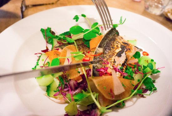 Grayshott, UK: Seared mackerel salad