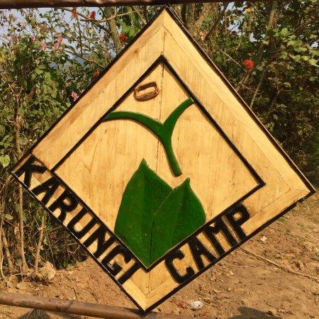 Kisoro, Uganda: Karungi Camp Road Sign