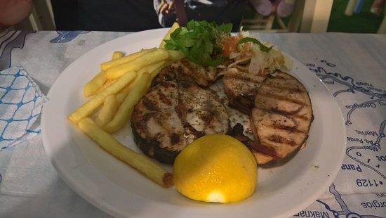 Molos Restaurant: swordfish dish
