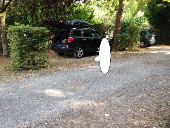 Badefols-sur-Dordogne, Frankrike: Allée du camping devant les chalets