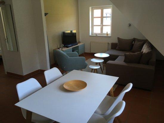 Dranske, Alemania: Wohn-/Essbereich Wohnung A45