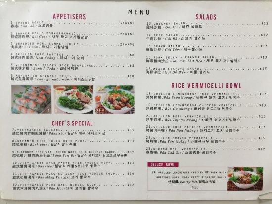 Saigon Kitchen - Menu - Picture of Saigon Kitchen, Auckland Central ...