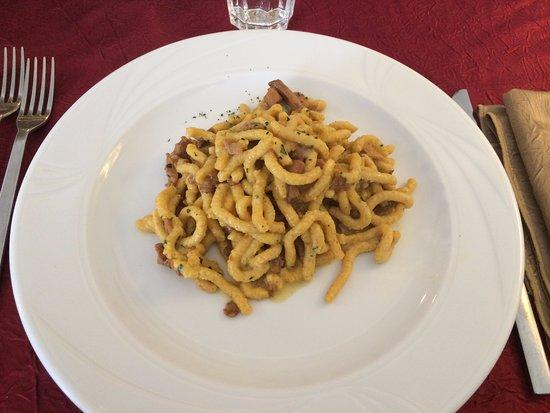 Monghidoro, Italy: Passatelli asciutti con funghi