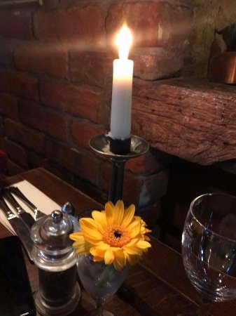 The Three Chimneys: candle light