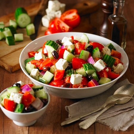 Mountain View, Канада: Freshly Prepared Greek Salad