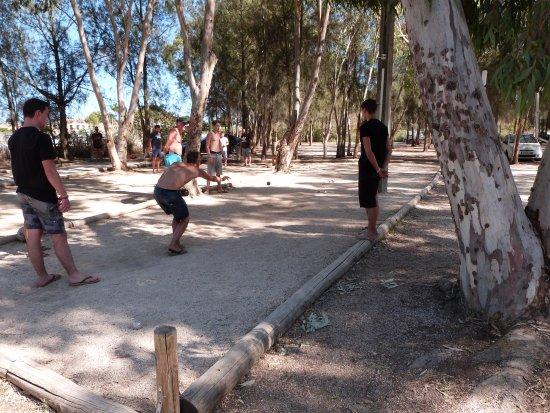 Camping les Palmiers : Terrain de pétanque du camping