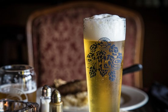 Adamstown, PA: Tall glass of our award winning Pilsener paired with grilled sausage