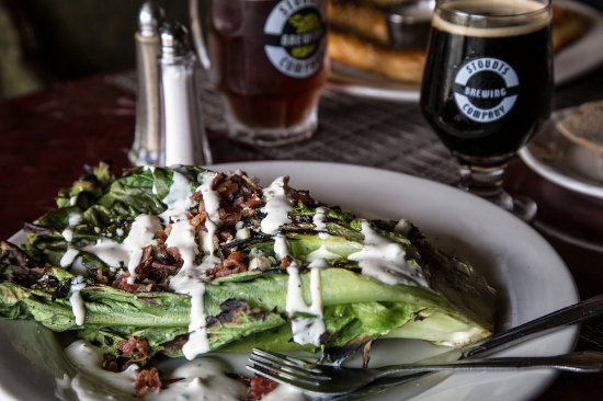 Adamstown, PA: Grilled Romaine local bacon and house blue cheese