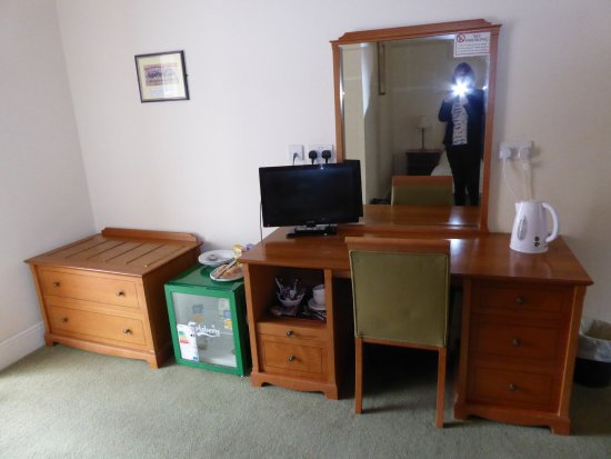 Bedroom furniture fridge and tv. - Picture of The Coach & Horses ...
