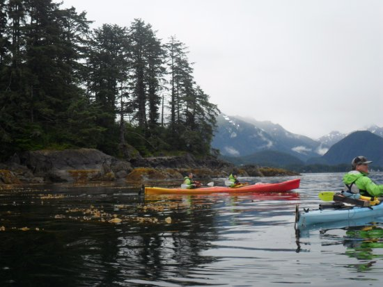 Sitka Sound Ocean Adventures: Half way point, stopping for a cookie and a drink :)