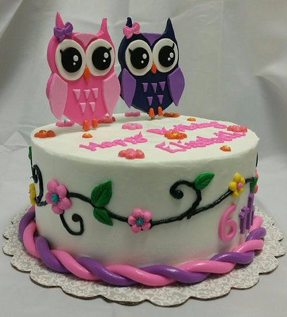 Amazing Owl Birthday Cake Picture Of Bruces Sweet Sensations Monroe Funny Birthday Cards Online Alyptdamsfinfo