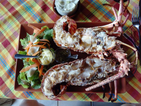 Grand Bourg, Guadalupe: langouste