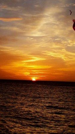 Aruba Surfside Marina: zonsondergang