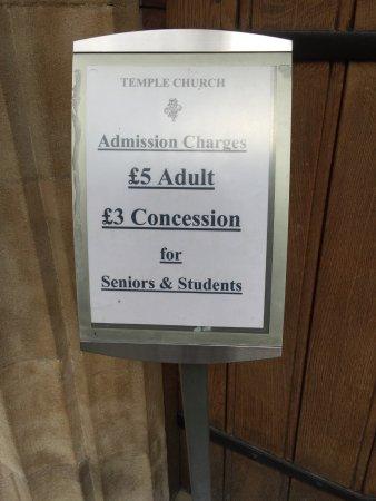 Temple Church: ingresso