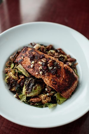 Wayne, MI: Brussels Sprout Salad with Salmon