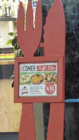 Las Palomas Buffet & Tapas : cartello offerta